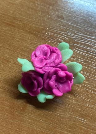 Розочка из полимерной глины