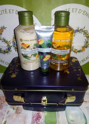 Новогодний набор манго – кориандр с сундучком. ив роше