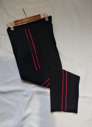 Классические укороченные брюки штаны с лампасами george