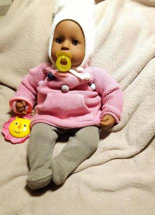 Темнокожий пупс кукла Аннабель от zapf creation 46 см.