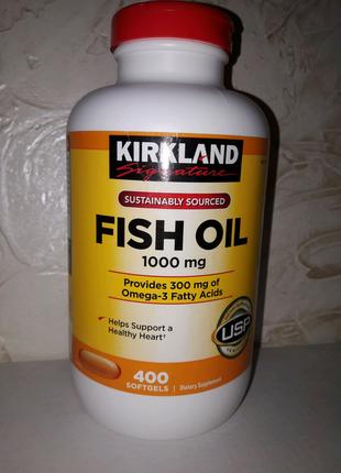 Вітаміни США. Риб'ячий жир Омега 3. kirkland