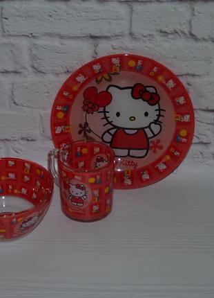 Набор детской посуды китти