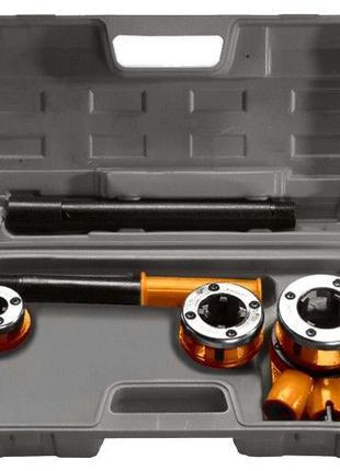 Набор клуппов 1/2-3/4-1, плашкодержатель с трещоткой, 6 предметов