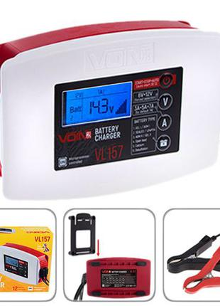 Зарядное устройство для авто VOIN VL-157 импульсное 6&12V/3-5-7А