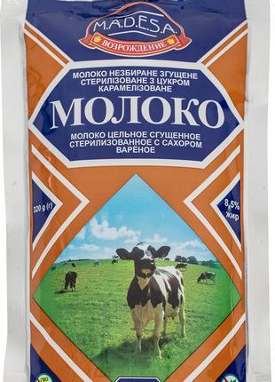 Молоко цельное сгущенное карамелизированное,8,5 %, 320 гр.экспорт