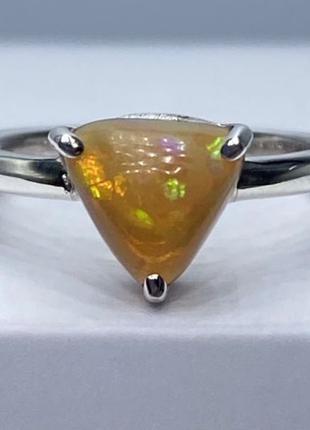 Серебряное Кольцо с натуральным опалом. Кольцо опал Серебро 925•