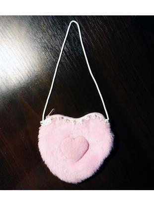 Дитяча сумка (косметичка) Сердечко 11х13 см