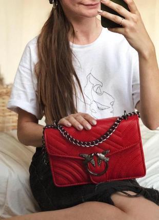 Красная сумка сумочка на плечо клатч