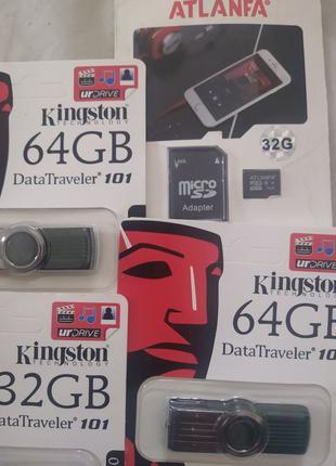 Карта пам'яті флеш картка 32 64 ГБ Gb Kingston
