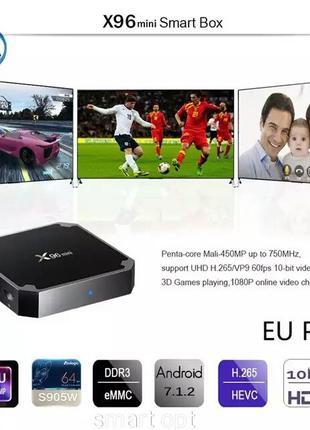 Smart TV x96 mini 2 gb 1 Gb