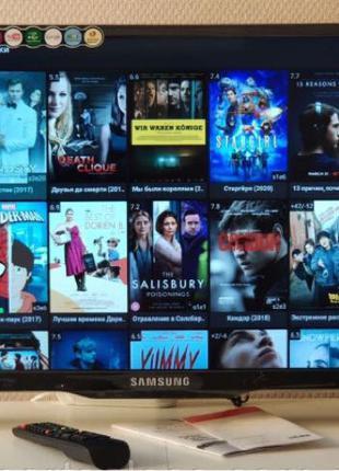 "SAMSUNG Smart TV Андроид 32"" WI-FI T2 4K. 42"" Бесплатная доставка"