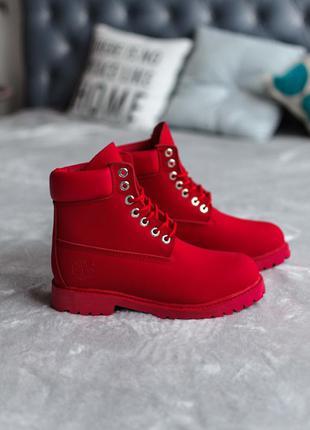 ⭕распродажа⭕🍁❤️timberland red thermo❤️🍁женские красные ботинки...