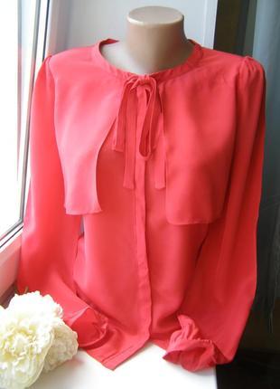Somerset by alice temperley 100% шелковая блуза красного цвета...