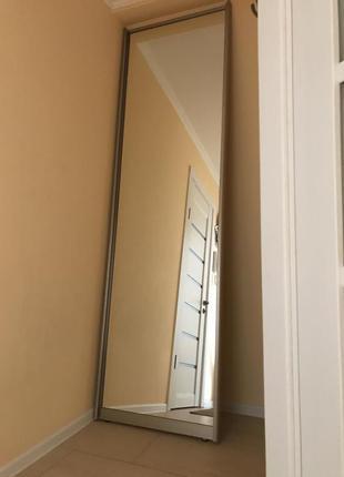 Зеркальная дверь для шкафа купе