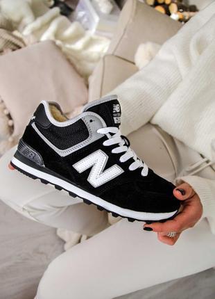 New balance winter black кроссовки зимние