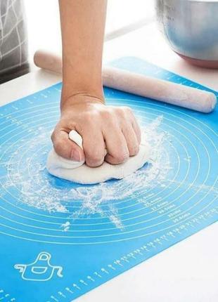 +подарок!!!! силиконовый коврик для раскатки теста 65х45 см