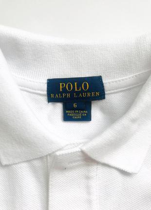 Белая футболка/рубашка polo ralph lauren для мальчика 6 лет. 1...