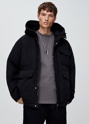Мега стильная мужская весенне-осенняя парка/куртка pull&bear! s