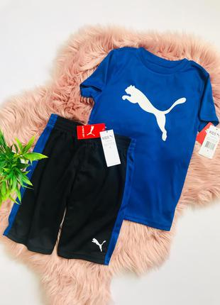 Спортивный костюм(футболка и шорты) puma! 6-7 лет. 100% оригинал!