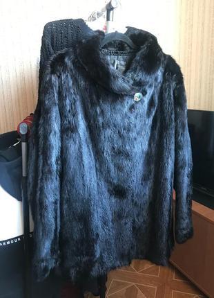 Натуральная норковая шуба saga furs!размер s/m.