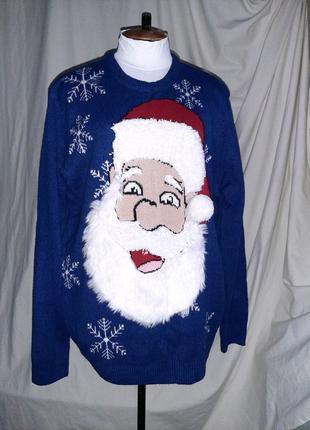 Новогодний свитер Санта, кофта на Рождество, Новый год