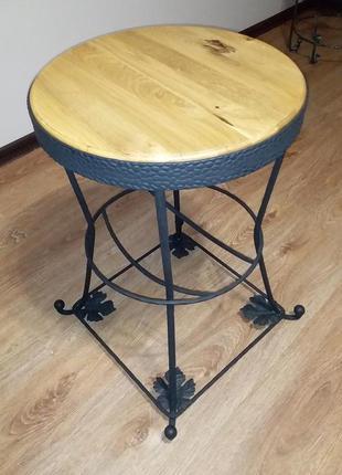 Дубовый Стол лофт в винтажном стиле кофейный