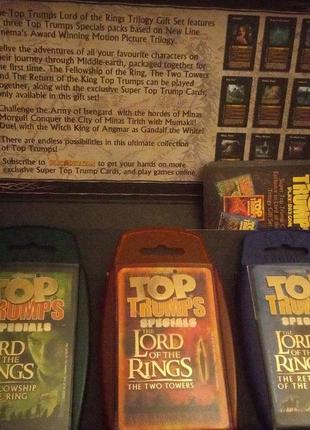 Карточная игра The lord of the rings, top trumps
