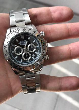 Часы Rolex Daytona Quartz Date Silver-Black