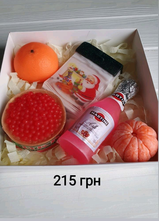 Новогодний подарок набор из мыла ручной работы