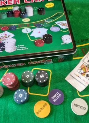 Набор для игры в покер на 500 фишек с номиналом новый покер