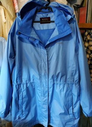 Куртка плащ женская голубая