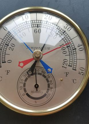 Механический термометр-гигрометр с памятью диапазона температур