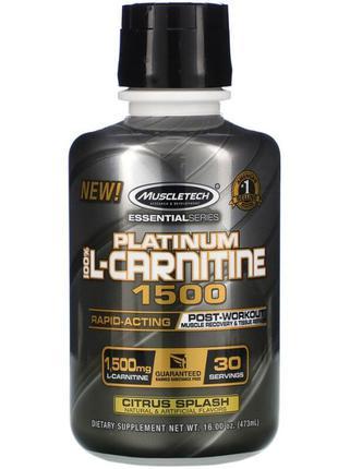 Muscletech Essential 100 L-Carnitine 1500, L Карнитин жидкий. ...