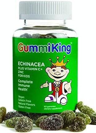 GummiKing эхинацея с витамином С и цинком для детей 60 жевател...