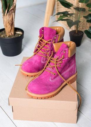 Ботинки женские демисезонные timberland термо, осень - зима