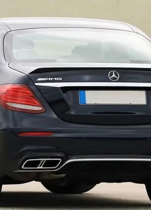 Спойлер Mercedes W213 сабля стиль AMG e63s (пластик)