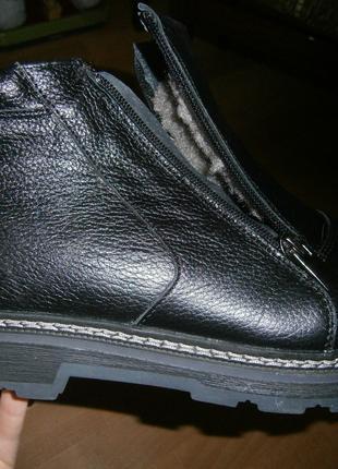 Мужские Ортопедические Кожаные Зимние Ботинки Новые