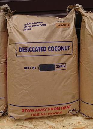 Стружка кокосовая медиум 65%, файн 40%-50%-65%.
