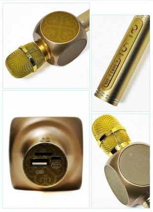 Беспроводной Bluetooth Микрофон для Караоке Микрофон DM Karaoke