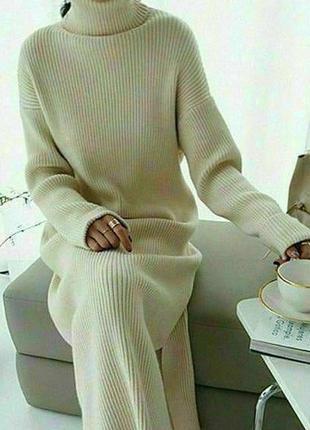 Платье oversize вязаное