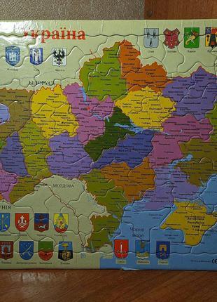 "Пазл ""Украина"" от компании baby Tilly"