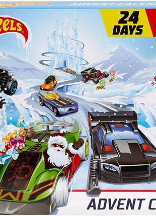 Адвент Календар Hot Wheels 24-денні святкові сюрпризи