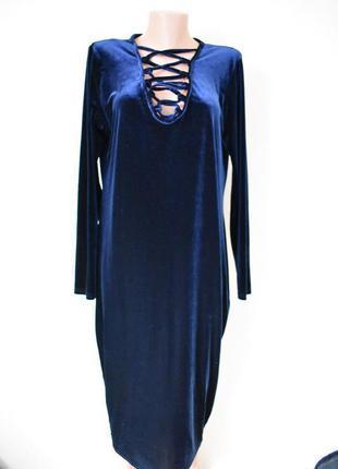Шикарное велюровое платье большого размера