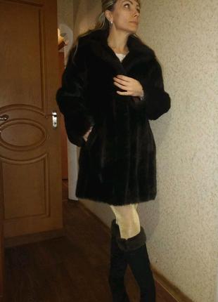 Шуба женская эко  мех норка