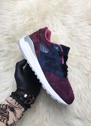 Женские фиолетовые кроссовки new balance 998 purple grape