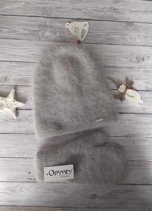Шапка и варежки!шапка зимова!шапка бини!шапка ангорова!ятепла ...