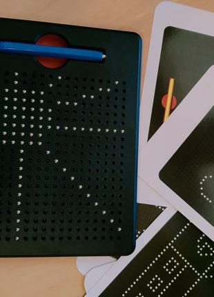 Магнитный планшет черный 380 шариков