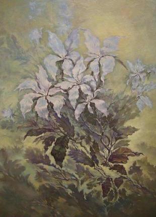 "Картина ""Цветы"" масло, холст"