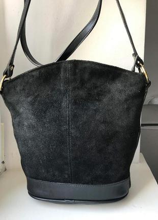 Стильная сумка кроссбоди. кожа и замша