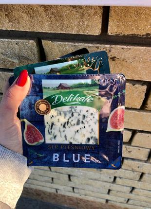 Сыр с плесенью Delikate blue, gold, green 100 грам Польща